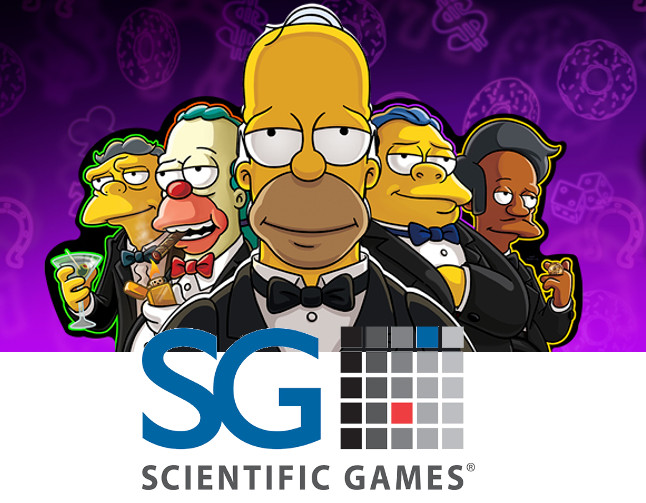 Los Simpson, protagonistas de la ultima Máquina de Scientific Games