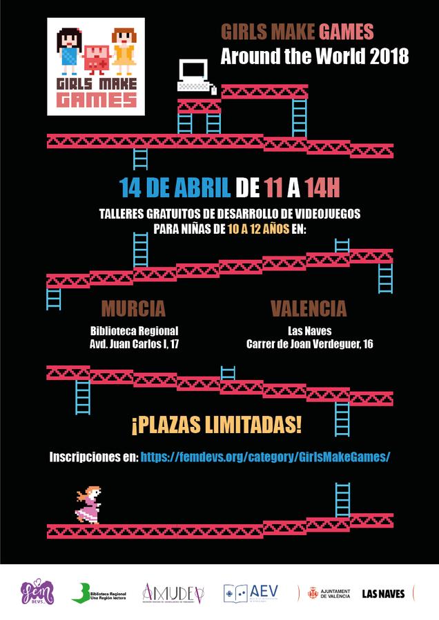 Comienza Girls Make Games, Talleres De Videojuego Para Niñas En Valencia Y  Murcia