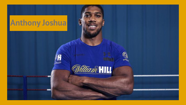 William Hill tendrá como embajador de marca al campeon del mundo de los pesos pesados Anthony Joshua