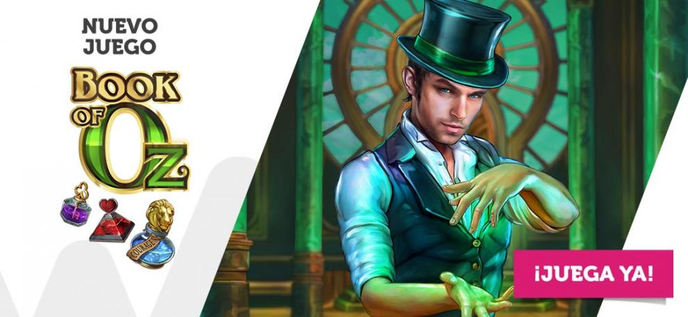 Wanabet incorpora Book of Oz, nueva slot de Microgaming