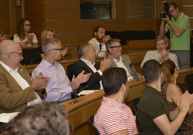 Carlos Chacón, muy aplaudido en el acto de presentación del Proyecto formativo en RSC
