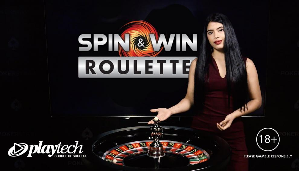 Playtech y Pokerstars Casino lanzan la ruleta en vivo Spin & Win en España