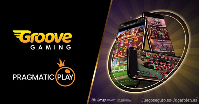 PRAGMATIC PLAY launches its slots and Live Casino content at GROOVEGAMING